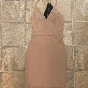 Nude Lace Back Dress